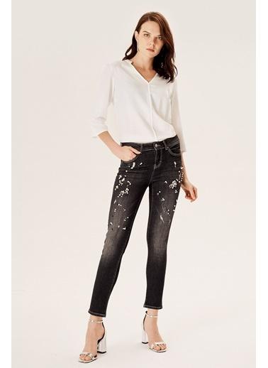 NaraMaxx Taşlı Kot Pantolon Gri